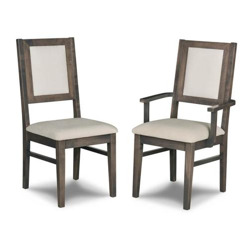 - Contempo Padded Back Side Chair in Leather