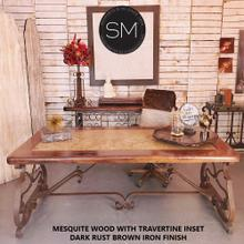 Mesquite Wood Wrought Iron