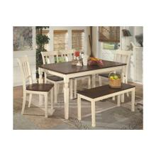 Rectangular Dining Room Table with Bench and 4 Side chairs