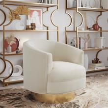 View Product - Stella Cream Velvet Swivel Chair