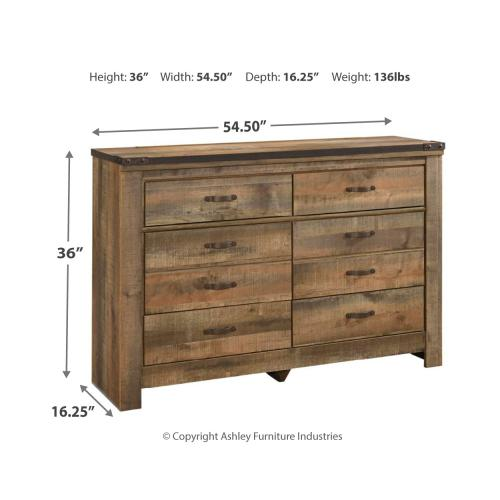 Twin Panel Headboard With Dresser