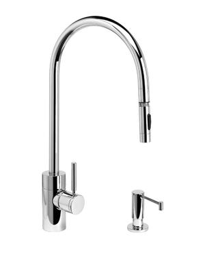 Contemporary Extended Reach PLP Pulldown Faucet 2pc. Suite - 5300-2 - Waterstone Luxury Kitchen Faucets Product Image