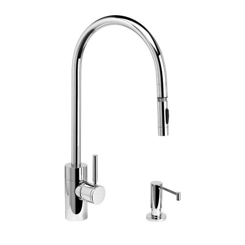 Contemporary Extended Reach PLP Pulldown Faucet 2pc. Suite - 5300-2 - Waterstone Luxury Kitchen Faucets