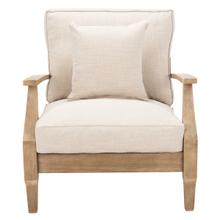 See Details - Martinique Wood Patio Armchair - Natural / White