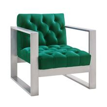 Oliver Green Velvet Chair
