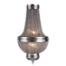 Paloma Collection Wall Sconce D:9.5in H:16.5in E:4.5in Lt:2 Pewter Finish