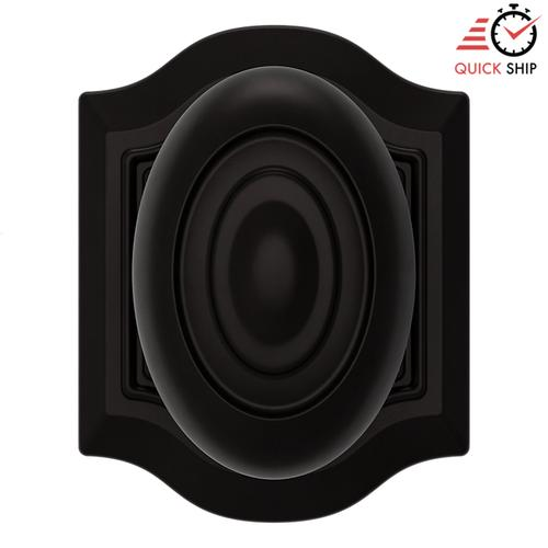 Baldwin - Oil-Rubbed Bronze 5077 Bethpage Knob with R027 Rose