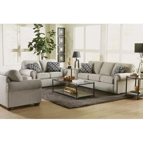 - Presley Fabric Sofa with Nailhead Trim