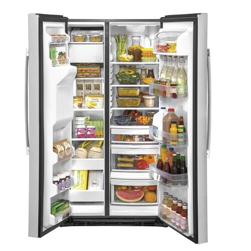 GE® 25.1 Cu. Ft. Fingerprint Resistant Side-By-Side Refrigerator