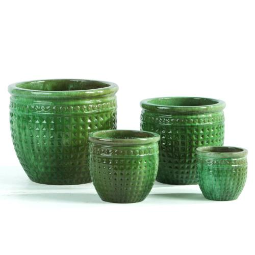 Checker Planter - Set of 4