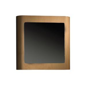 Aeri single door medicine cabinet with mirrored door and two shelves. Product Image