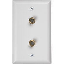 See Details - Coaxial Duplex Wall Plate