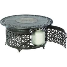 "Bellagio 48"" Round Gas Fire Pit Chat Table"