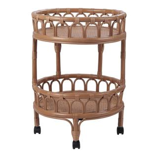 See Details - Dijon Rattan Cart, Canary Brown