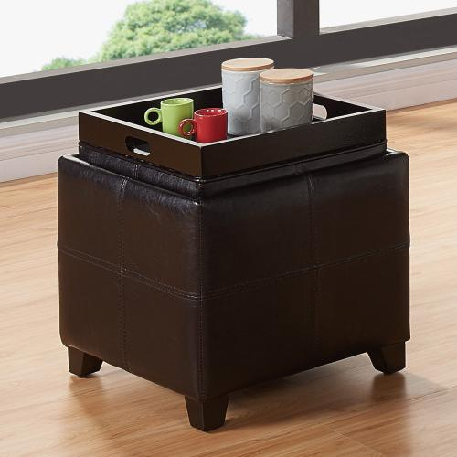 Anton II Square Storage Ottoman in Brown