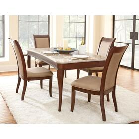 Marseille 5 Piece Marble Set(Table & 4 Side Chairs)