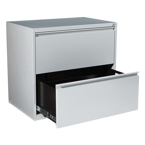 """30"""" Wide 2 Drawer Lateral File With Core-removeable Lock & Adjustable Glides"""