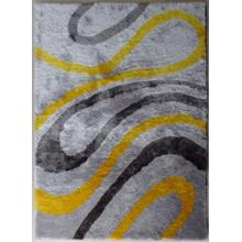 Designer Shag S.V.D. 8002 Area Rug by Rug Factory Plus - 2' x 3' / Gray Yellow