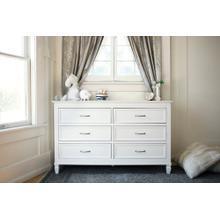 Warm White Darlington 6-Drawer Dresser
