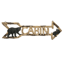 """Cabin"" Bear Arrow Wall Decor"