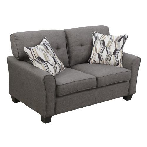 Emerald Home Clarkson Loveseat W/2 Accent Pillows Espresso U3470-01-05