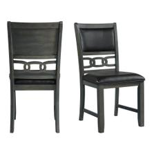 See Details - Amherst Dining Side Chair W/PU Cushion Side Stretcher Grey Finish (2 Per Pack)