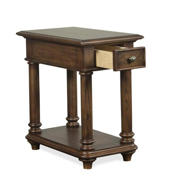 Riverside - Chairside Table - Plymouth Brown Oak Finish