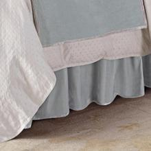 Gathered Velvet Bed Skirt - King