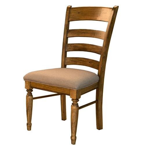 LADDERBACK UPHOLSTERED SIDE CHAIR
