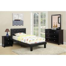 Rosa Youth Bed, Full, Black