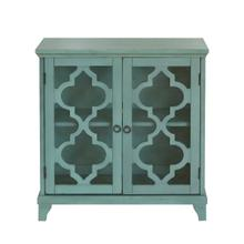 See Details - Blue kd two door chest