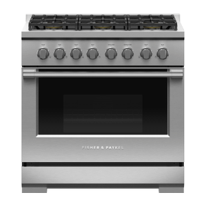 "Fisher & PaykelGas Range, 36"", 6 Burners, LPG"