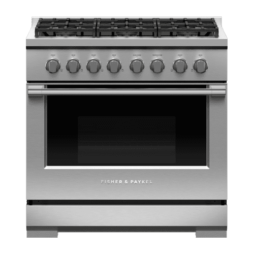 "Gas Range, 36"", 6 Burners"