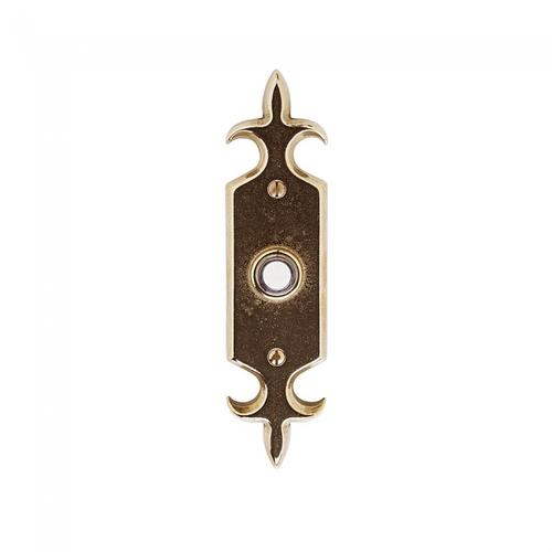 Fleur De Lis Doorbell Button Silicon Bronze Brushed