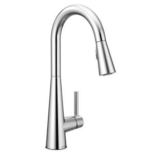 Sleek chrome one-handle pulldown kitchen faucet Product Image