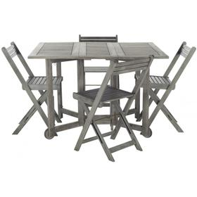 Arvin Table and 4 Chairs - Grey Wash