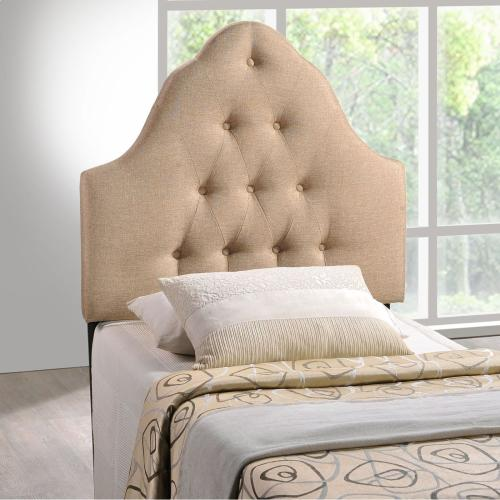 Modway - Sovereign Twin Upholstered Fabric Headboard in Beige