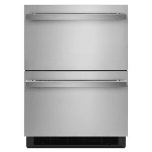 "JennAirNOIR 24"" Double-Refrigerator Drawers"