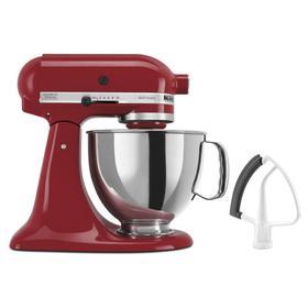 Value Bundle Artisan® Series 5 Quart Tilt-Head Stand Mixer with Flex Edge Beater - Empire Red