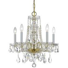 See Details - Traditional Crystal 5 Light Spectra Crystal Brass Mini Chandelier