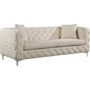 """Scarlett Velvet Sofa - 87"""" W x 35.5"""" D x 30.5"""" H"""
