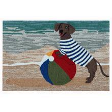 Liora Manne Frontporch Coastal Dog Indoor/Outdoor Rug Ocean