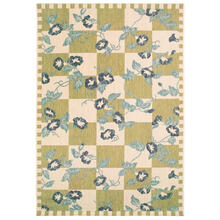 "Liora Manne Portofino Morning Glory Indoor/Outdoor Rug Green 4'10"" x 7'6"""