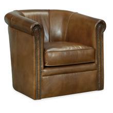 Axton Swivel Leather Club Chair