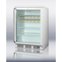 Commercial Glass Door Beverage Center for Red Wine and Ale, W/digital Thermostat, White Cabinet, Full-length Handle, Glass/wood Shelves, and Lock