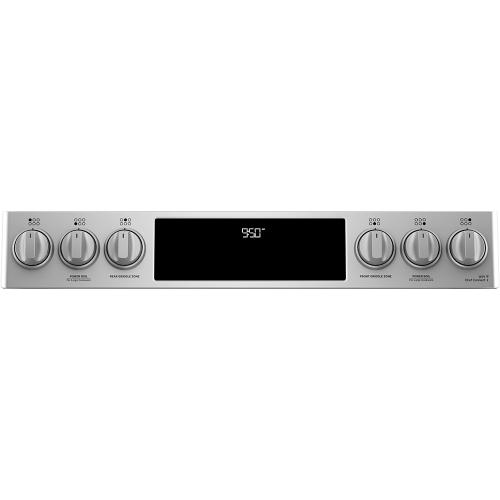 """Café 30"""" Slide-In Front Control Dual-Fuel Double Oven with Convection Range Stainless Steel"""