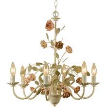 See Details - AF Lighting Ramblin' Rose Six Light Chandelier, 7050-6H