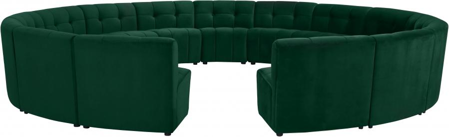 "Limitless Modular Velvet 15pc. Sectional - 173"" W x 173"" D x 31"" H"