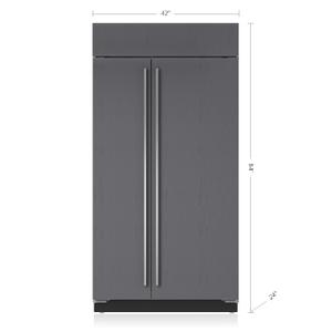 "Subzero42"" Classic Side-by-Side Refrigerator/Freezer - Panel Ready"
