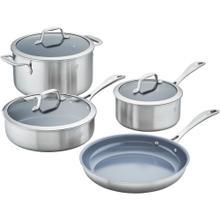 ZWILLING Spirit Ceramic Nonstick 3-ply 7-pc Stainless Steel Ceramic Nonstick Cookware Set